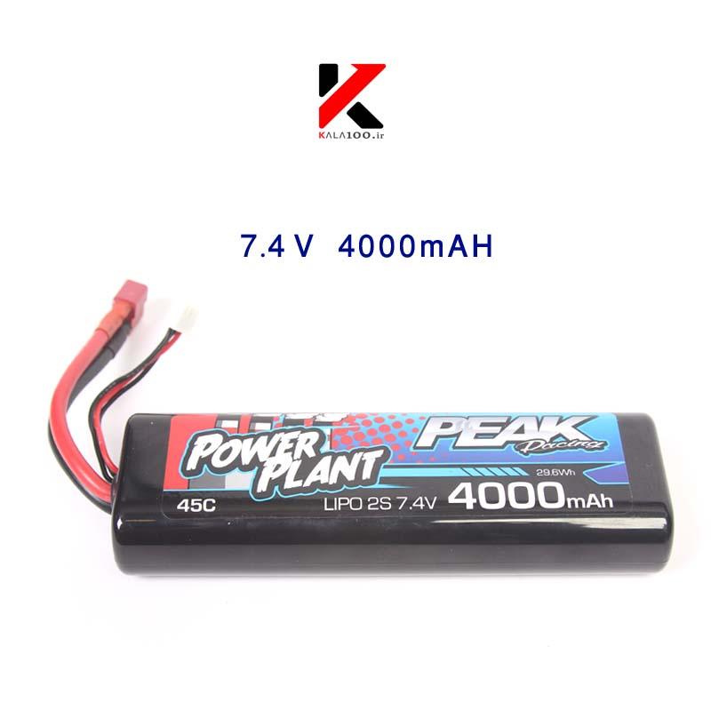 باتری لیتیوم پلیمر دو سل چهارهزار میلی آمپر پیک پاور پلنت