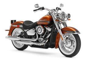 موتورسیکلت هارلی دیویدسون آمریکا سبک مسافرتی مدل 2020 DELUXE رنگ نارنجی
