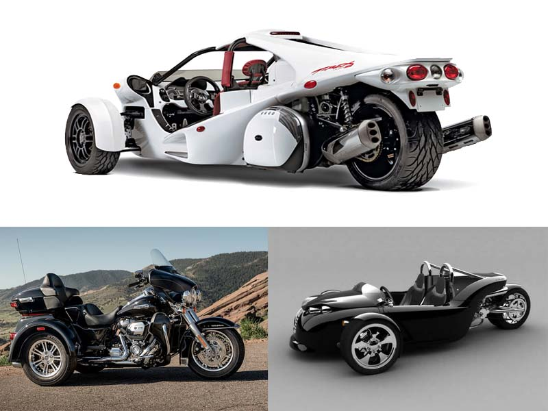 Trike Motorcycles, Pictures, Information, Types and Manufacturers