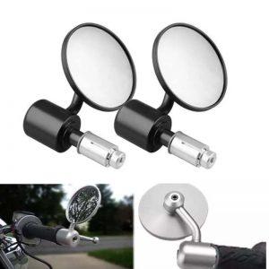 آینه پشت سیاه موتورسیکلت کاستوم