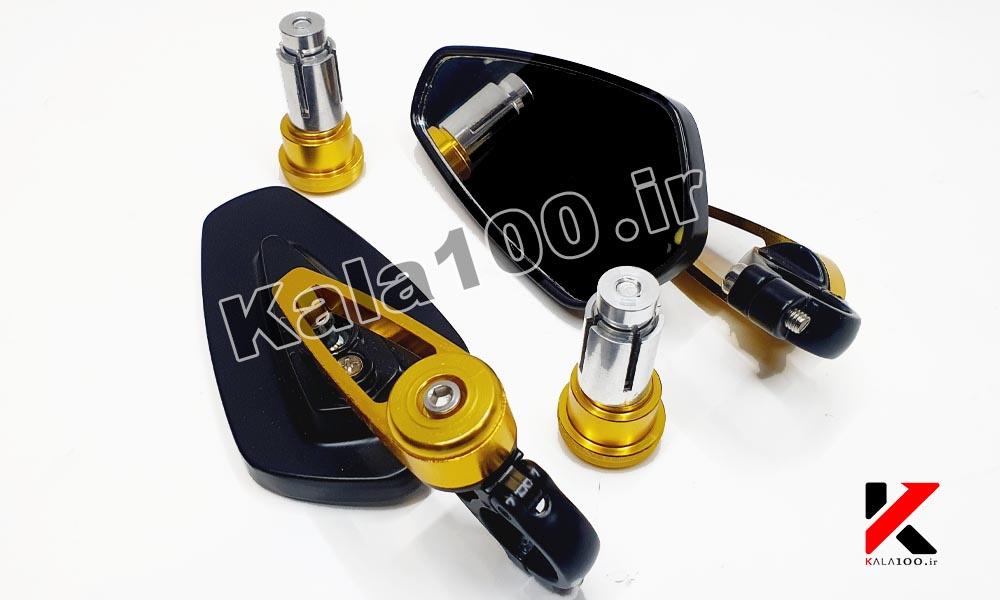 دو عدد آینه ته فرمان موتور سیکلت مناسب برای کافه ریسر و انواع موتورهای سنگین