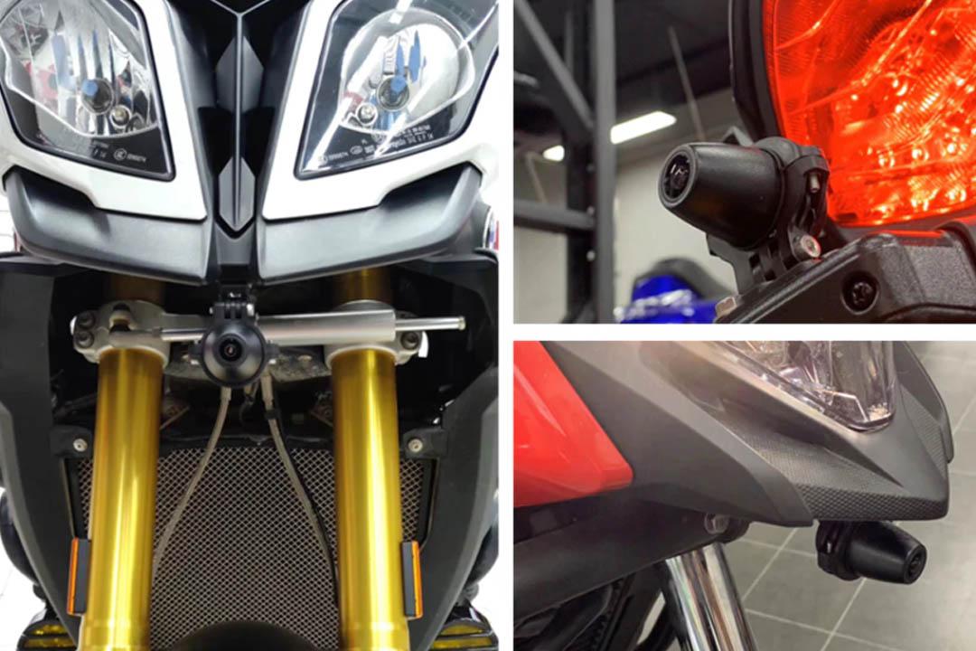 چراغ جلو و دوربین ثبت وقایع موتورسیکلت