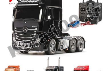 Four RC Truck with red and black color