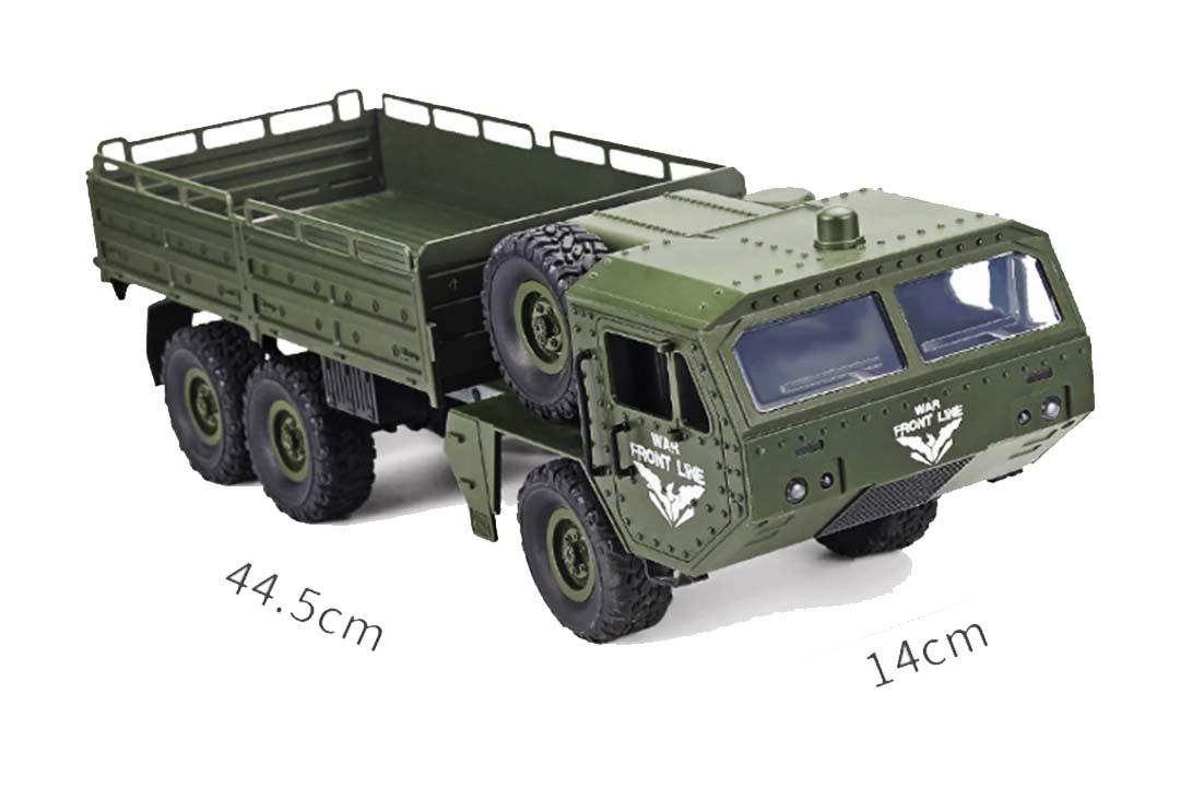 کامیون اسباب بازی کنترلی K6 RC Military Truck سبز رنگ