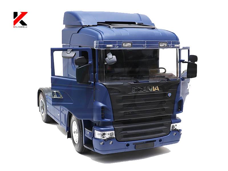 تصویر نمای جلو اسکانیا شارژی رنگ آبی R470 RC Truck